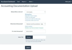 Documentation uploader