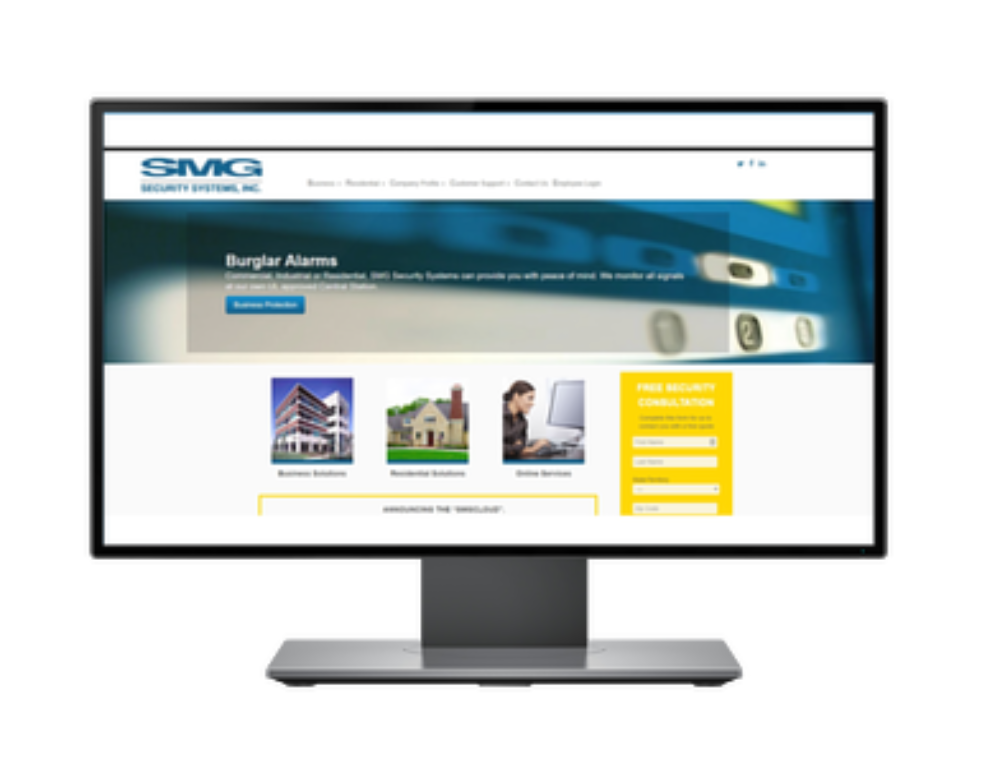 Website For SMG Security Systems