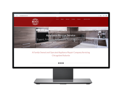 Website For Appliance Repair Company Black Line Consulting